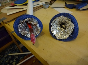 Foil inner lining of muzzle piece