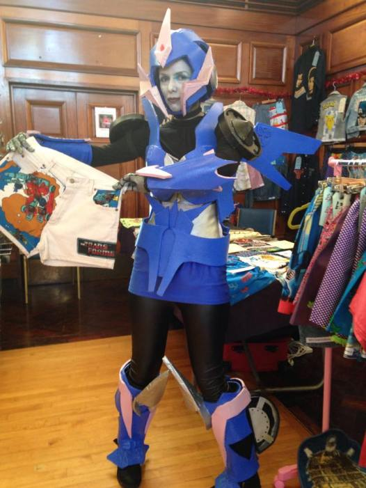 AddAltModeR as TF Prime Arcee. Shorts and photo by Mary-Jane.
