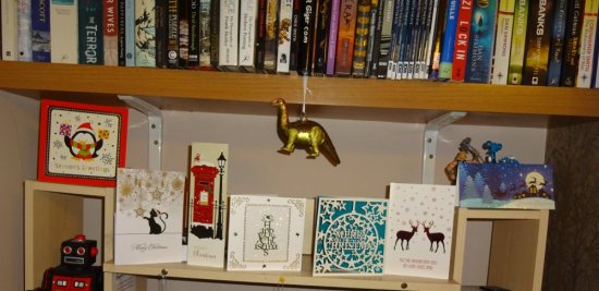 What could be more festive than a dangling dino